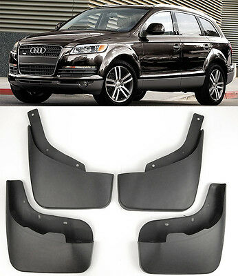 OE 4 Pieces Front Rear Splash Mud Guards Flaps Mudguard Set For 07-15 Audi Q7
