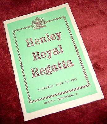 (HENLEY ROYAL REGATTA Official Programme program crew - Saturday July 7th. 1962)