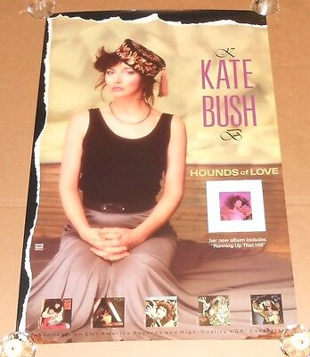Kate Bush Hounds of Love 1985 Promo Original Poster RARE 24x36