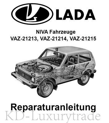LADA Niva Reparaturanleitung Handbuch, deutsch 2121, 21213, 21214, 21215 CD-ROM