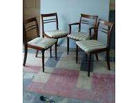 Four vintage Meredew dining chairs