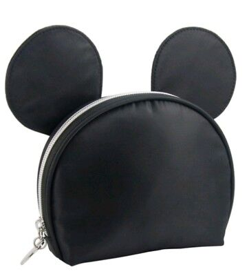 Mickey Mouse Makeup (Disney Mickey Mouse Black Zip Cosmetic Makeup Bag with Ears Target Exclusive)