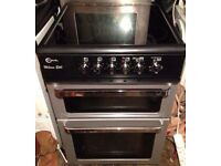 BLACK/SILVER FREE STANDING 60cm ELECTRIC COOKER FOR SALE, EXCELLENT CONDITION
