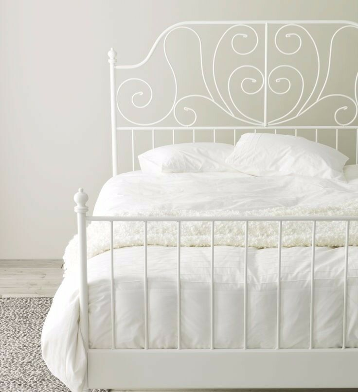 King size mattress and white frame