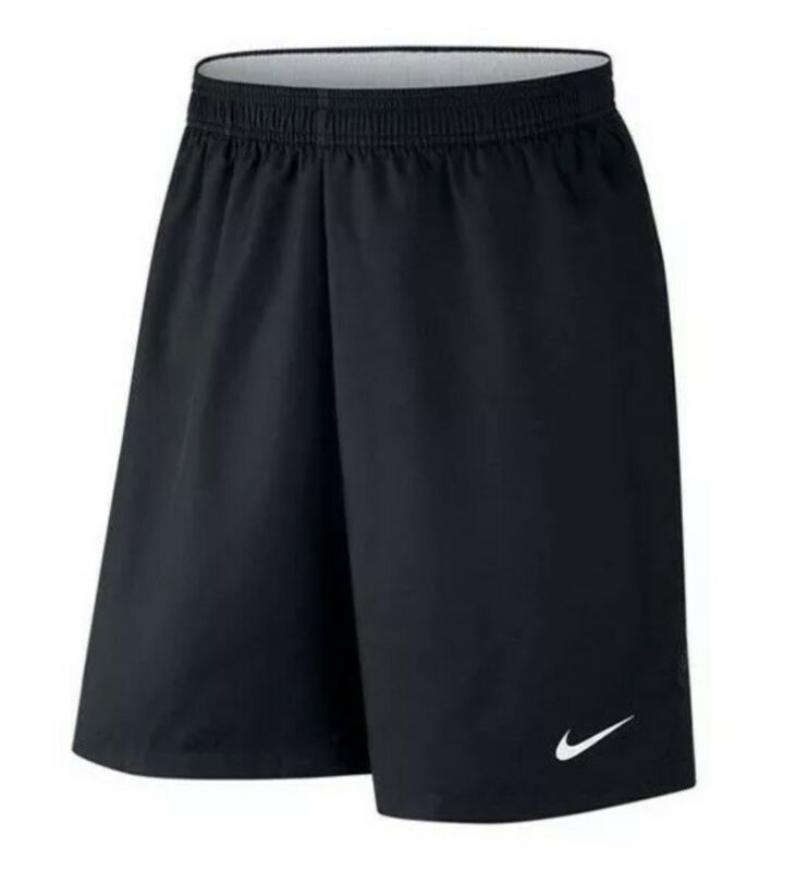 "Nike Court Tennis Dry 9"" Tennis Shorts Men's Sz LARGE Black/White 830821-010 NWT"