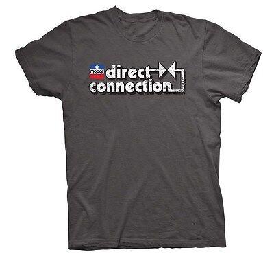 Mopar Direct Connection Mens Charcoal Short Sleeve Tee Shirt