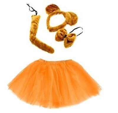 Bär Kostüm Set Mädchen Damen Verkleiden Fasching Karneval Dress Up Halloween  ()