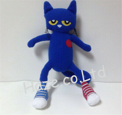 Pete The Cat Doll (Cute Pete the Cat Blue Eric Litwin Doll Stuffed Fleece Plush Doll Toy)