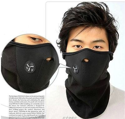 Motorcycle Snowboard BALACLAVA Ski Cycling Half Face Mask Neck Warmer Cover ifa