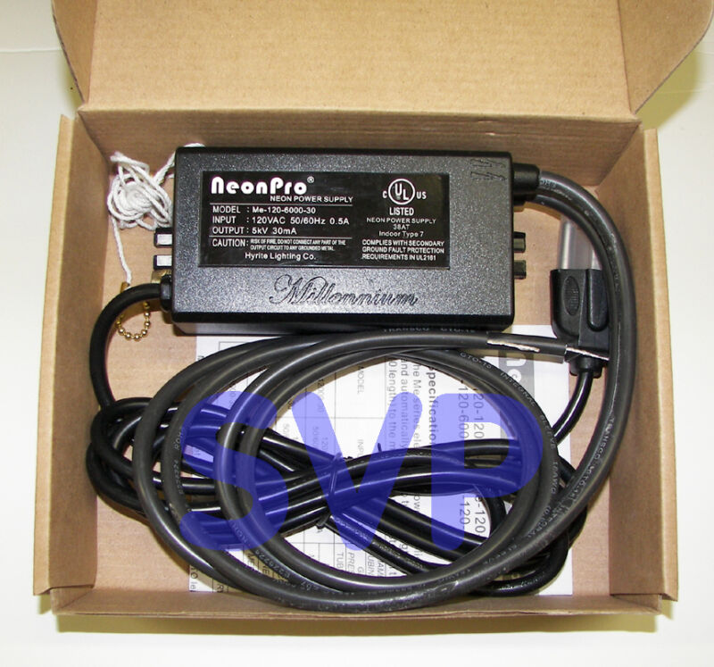 ** UL Listed 6kV / 6,000 volts (5kV RMS) NEON SIGN TRANSFORMER POWER SUPPLY