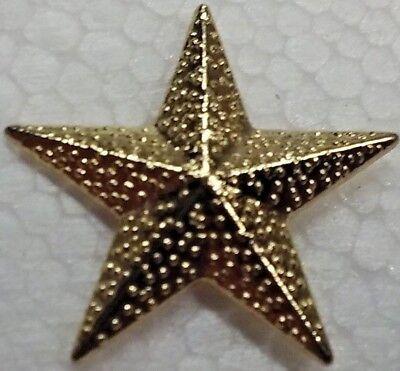 5 Point Super All Star Student High School Letterman Jacket Pin metal goldtone