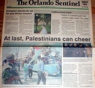 1994 Headline Newspaper Israel   Plo Sign Cairo Agreement For Arab Self Rule