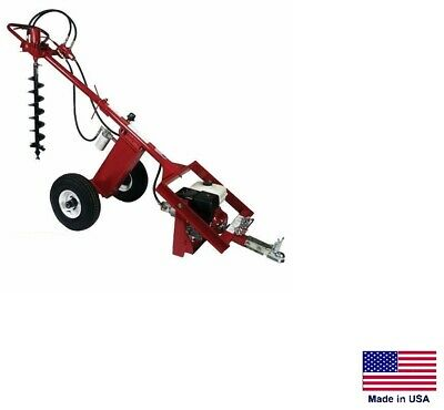 Post Hole Digger Earth Auger - Hydraulic - 9 Hp Honda - 7 Gpm - 225 Ftlbs Torque