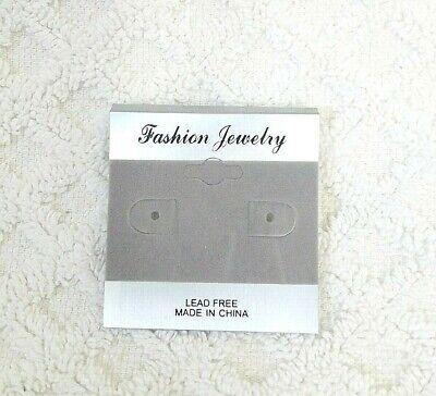 100pcs 2 X 2 Gray Velvet Plastic Earring Ear Studs Holder Display Hang Cards 2