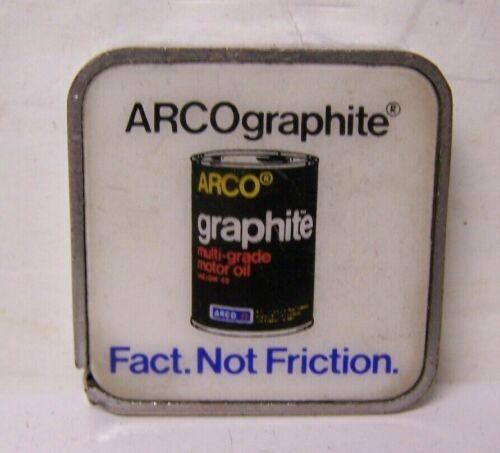 VINTAGE BARLOW TAPE MEASURE-Arco GRAPHITE ENGINE OIL QUART CAN AD
