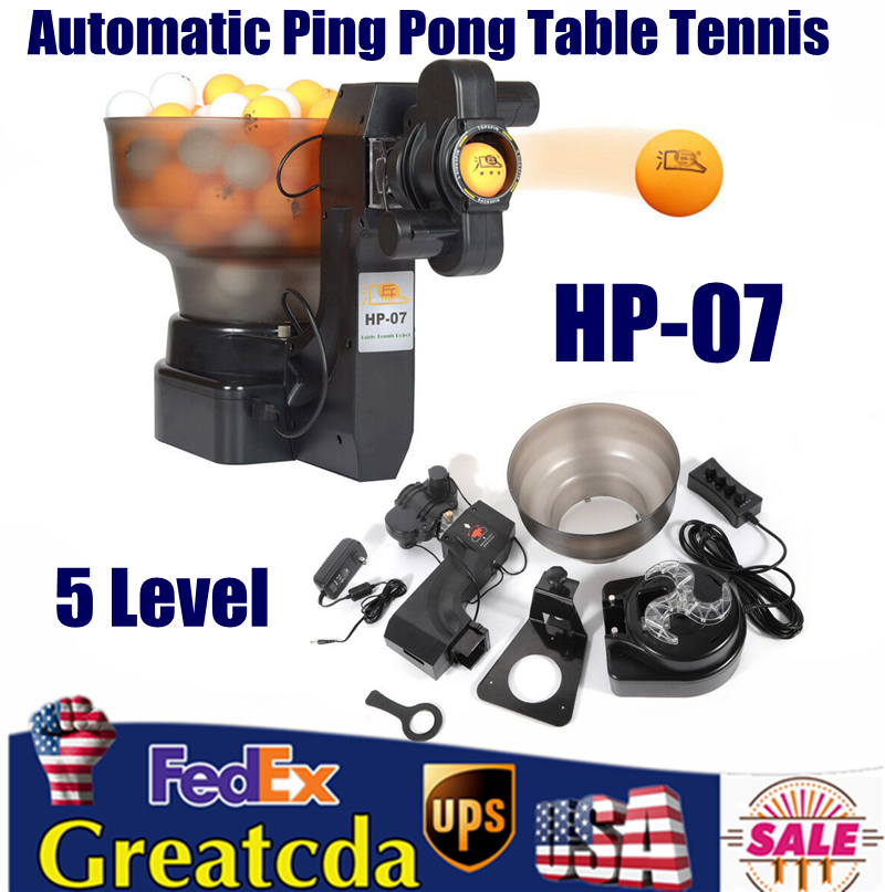 Ping Pong/Table Tennis Robots Automatic Ball Machine for Tra