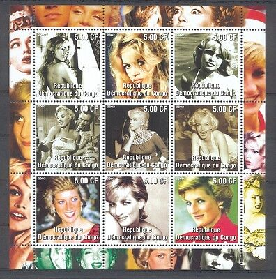 Monroe + Diana  Block ** postfrisch - private Ausgabe