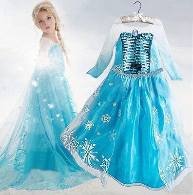 Mädchen Eiskönigin Anna Elsa Prinzessin Kostüme Kinder Party - Fancy Kleid Kostüme