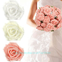 Colourfast Pe Foam Rose Artificial Flower Wedding Bride Bouquet Party Decor - top sticker - ebay.co.uk