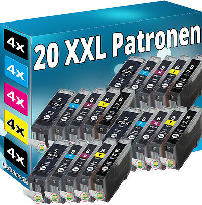 20 PATRONEN SET CHIP für CANON IP3300 IP3500 IP4200 IP5200R IP4300 IP4500 MP970 online kaufen
