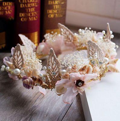 Handmade Mermaid Crown Festival Tiara Boho Fairy Wedding Hair Jewelry Princess - Mermaid Crown