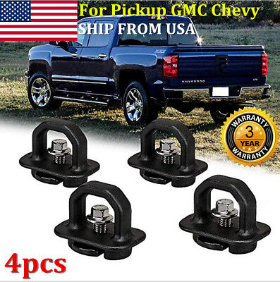 - 4XCar accessories Tie Down Anchor Truck Bed Side Wall Anchor Pickup GMC Chevy US