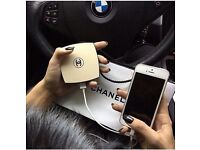 CHANEL - PORTABLE CHARGER - POWER BANK - PHONE CHARGER - IPHONE - SAMSUNG