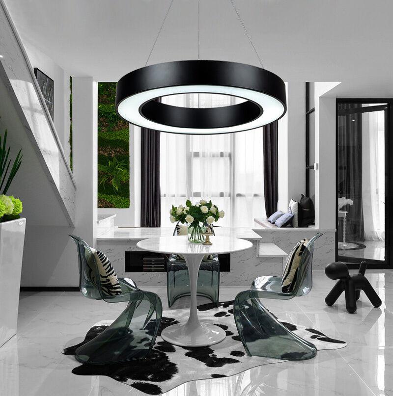 Modern Office LED Pendant Lights Circle Round Suspension ...