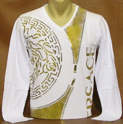 Brand New With Tags Men's VERSACE Long Sleeve T-SHIRT Size XL