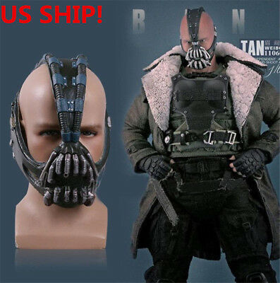 US SHIP Batman TDKR Helmet Halloween Cosplay Mask Bane Costume Mask Coser - Halloween Costumes Bane Mask