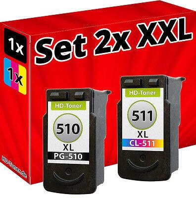 XL TINTE PATRONE für CANON PG510+CL511 PIXMA MP280 MP495 MP260 MP270 MP250 online kaufen