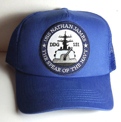 3a526aa247d USS Nathan James- Last Ship TV Series Baseball Trucker Cap Hat- Blue Cap-