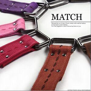 NWT-Mens-belts-100-cotton-canvas-belts-Multi-Color