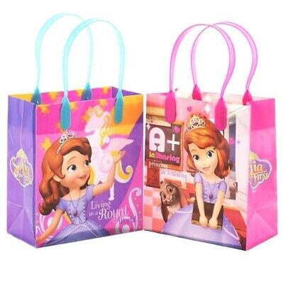 12PCS Disney Princess Sofia The First Goodie Party Favor Gift Birthday Loot Bags (Sofia The First Favor Bags)