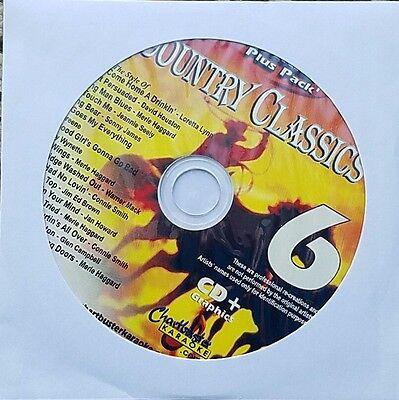 COUNTRY CLASSICS 6 KARAOKE CDG CHARTBUSTER ESSENTIALS ESP451-6 CD+G MUSIC