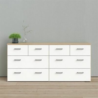 Bedroom Dresser 8 Drawer Clothes Storage Double Chest of Dra