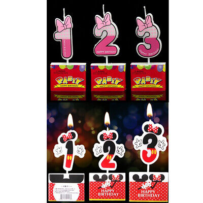 Minnie Mouse Birthday Cake Age Candle, Cake Topper, Party Decorations Supplies](Minnie Cake Decorations)