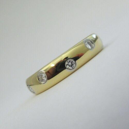 TIFFANY & Co. 18K Yellow Gold Platinum Diamond Etoile Band Ring 6 $2,600