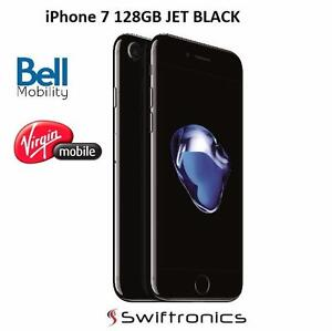 Brand New Apple iPhone 7 128GB Jet Black Bell Mobility | Virgin Mobile