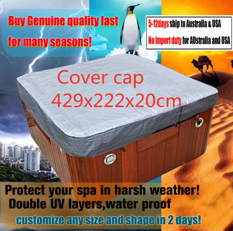 Customize vary size 7f,8f,9 hot tub cover cap,spa cover sun shield 429x222x20cm