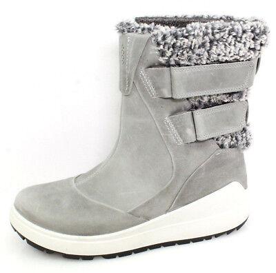 ECCO Noyce Gr.37 Damen Winterschuhe Stiefel Boots Schneestiefel Leder Grau NEU
