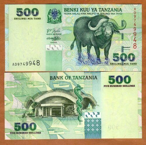 Tanzania, 500 Shilingi, ND (2003), P-35, UNC > Buffalo