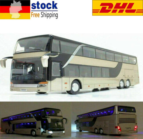 Stadt Reisebus Spielzeug Modell Fahrzeug Ride A Kutsche 1:32 Maßstab Kinder DHL