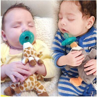Cute Baby Pacifier BPA Free Plush Toy Newborn Kids Boys/Girls Cartoon Nipper