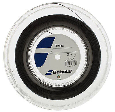 black 330ft 100m Reel Tennis String Babolat RPM Blast 17G 1.25mm