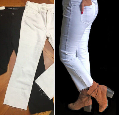 NWT Old Navy JEANS 18,16,14,12,8 Black White Flare Ankle Mid-Rise Denim Women's
