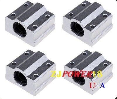 4pc Sc8uu Scs8uu 8mm Linear Ball Bearing Linear Motion Bearing Slide For Cnc M22