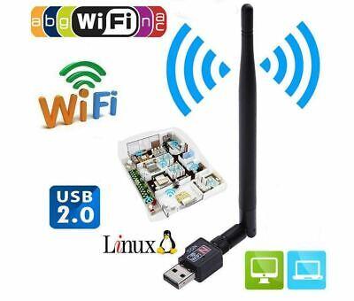 USB Wifi Router 600Mbps Adaptador Inalámbrico Lan Tarjeta Antena Para PC Laptop