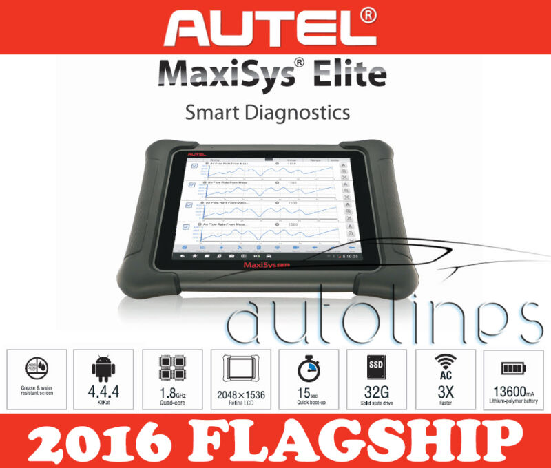 Autel Maxisys Elite Diagnostic Scanner Tool With J2534 Ms908p Pro - Au Version!