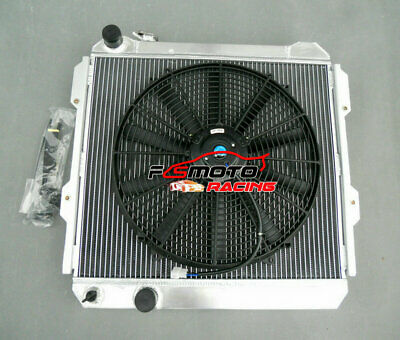 Aluminum Radiator+ Fan for TOYOTA HILUX LN85 LN60 LN61 LN65 2.4LTR DIESEL 84-91